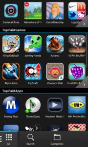 Popular Apps blackberry z10