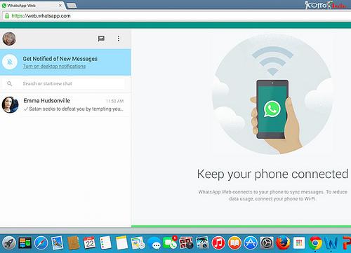 Whatsapp desktop photo
