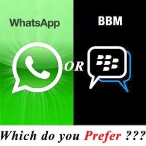 Whatsapp Vs Bbm