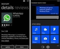 WhatsApp for Windows Phone the latest update adds MP3