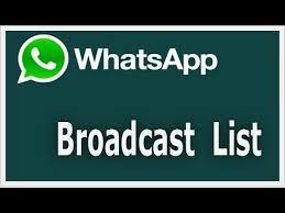 broadcast list