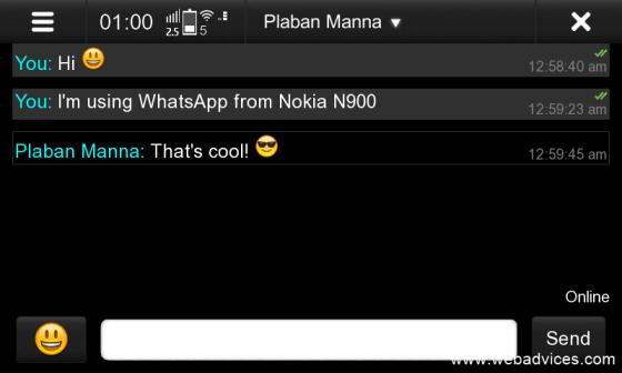 Nokia-N900-WhatsApp-client b